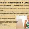 Онлайн-занятия по подготовке к школе и развивающие занятия