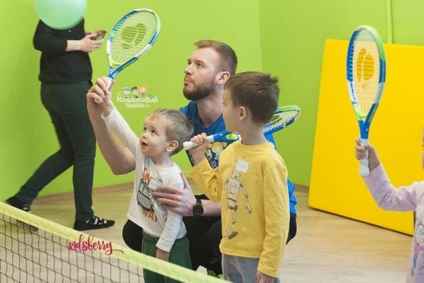 Секции большого тенниса для детей в детском саду Kidsberry в Москве